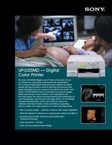 UP-D25MD — Digital Color Printer - Sony