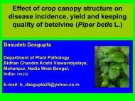 Effect of crop canopy structure on disease incidence, yield and ... - Inra