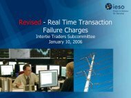 Revised - Real Time Transaction Failure Charges - IESO
