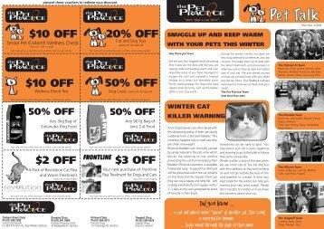 2009 WInter Pet Talk websetup - The Pet Practice Hamilton