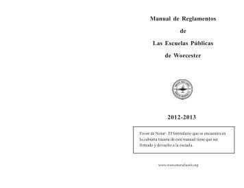 Policy handbook 2012-13 Spanish doc.pmd - Worcester Public ...