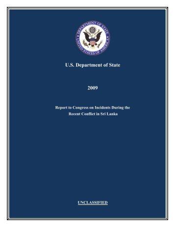 US State Department Report - TamilNet