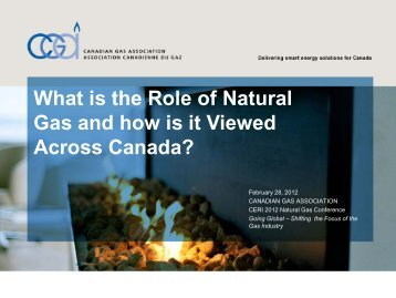 Natural Gas Use in Canada - Canadian Gas Association