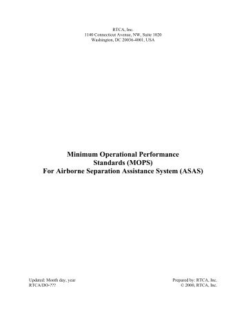 Minimum Operational Performance Standards (MOPS) For Airborne ...