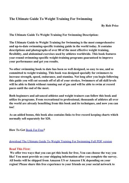 Training pdf weight