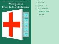 1. Einführung 2. Geschichte I + II 3. DIN 13080 / Pflege • Grundlagen ...