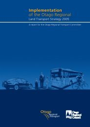 Implementation of the Otago Regional Land Transport Strategy 2005