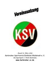 KSV-Vereinssatzung 2013 (pdf) - Karlsruher SV