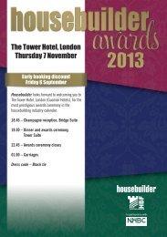 The Tower Hotel, London Thursday 7 November - Housebuilder