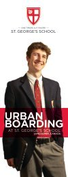 Urban Boarding Brochure - St. George's School