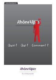 Quoi ? Qui ? Comment ? - Région Rhône-Alpes