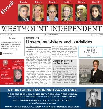 November 2 - Westmount Independent