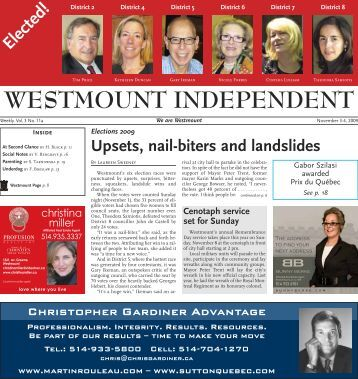 November 2 - Westmount Independent