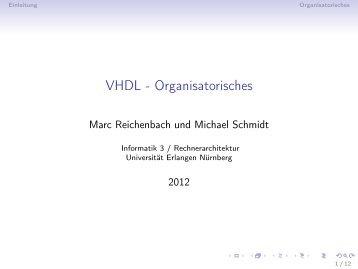 VHDL - Organisatorisches