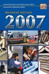 Bilancio Sociale 2007 - CSV Marche