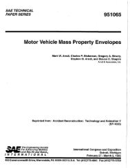 Motor Vehicle Mass Property Envelopes. - Transportation Safety