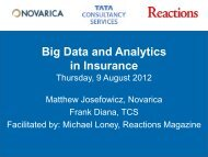 Big Data and Analytics in Insurance - Reactions