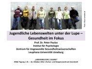 Vortrag Peter Paulus - Österreichische ARGE Suchtvorbeugung