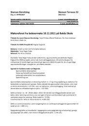 Møtereferat fra beboermøte 10.11.2011 på Bakås Skole
