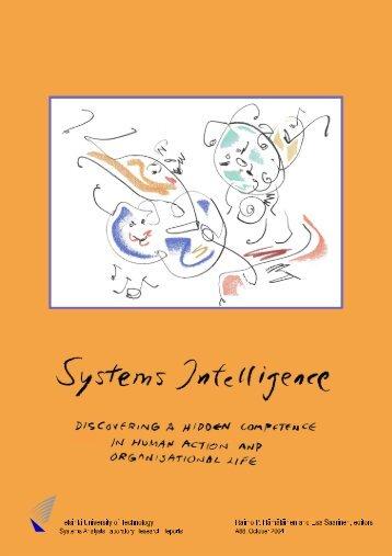 Chapter 1 Systems Intelligence - strategix.dk