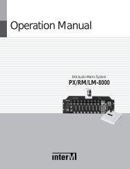 PX-8000 User Manual - Inter-M