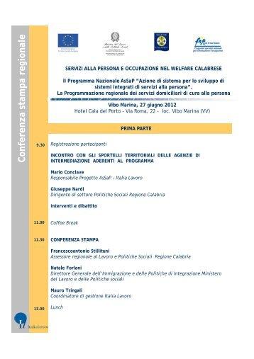 Conferenza stampa regionale - Centro Servizi al Volontariato dei ...