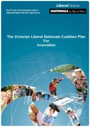 The Victorian Liberal Nationals Coalition Plan For Innovation