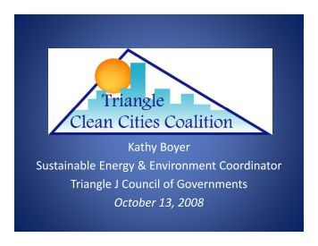 Triangle Clean Cities Coalition - NC Project Green