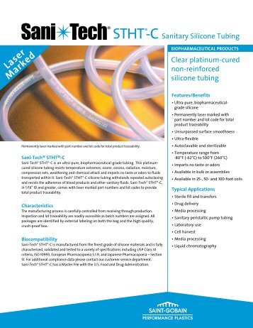 Sani-Tech® STHT®-C silicone tubing - Saint-Gobain Performance ...