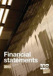 Financial Statements 2012/13 - London & Quadrant Group