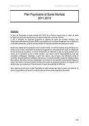 Plan Psychiatrie et Santé Mentale 2011-2015