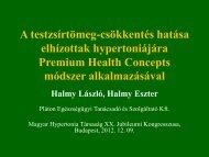Prof. Dr. Halmy L.:A testzsírtömeg-csökkentés hatása elhízottak ...
