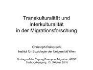 Vortrag Christoph Reinprecht - Österreichische ARGE ...