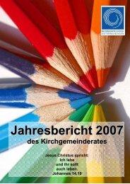 Jahresbericht 2007 web - Reformierte Kirche Ostermundigen