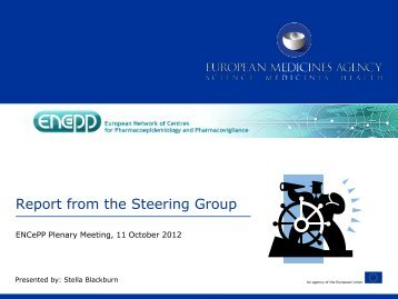Report from the Steering Group, ENCePP Plenary Meeting 11 ...