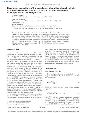 Benchmark calculations of the complete configuration-interaction ...