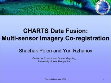 Shachak Pe'eri and Yuri Rzhanov, University of ... - GeoTools - NOAA