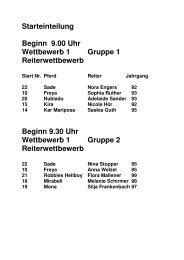 Starteinteilung Beginn 9.00 Uhr Wettbewerb 1 Gruppe 1 ...