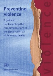 Preventing violence: A guide to implementing the ... - EuroSafe