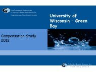 Power Point Presentation - University of Wisconsin - Green Bay