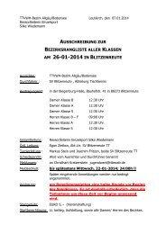 Ausschreibung + Anmeldeformular - TTVWH Bezirk Allgäu-Bodensee