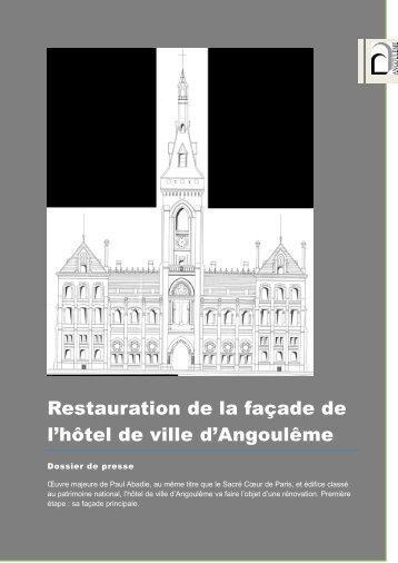 restauration de la façade de l'hotel de ville d'angouleme - Angoulême