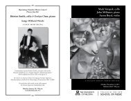 Mark Votapek, cello John Milbauer, piano Aaron ... - School of Music