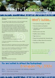 Enviroschools Newsletter no. 8 - Waikato Regional Council