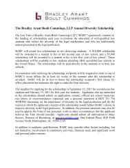 Applicants - Bradley Arant Boult Cummings LLP