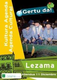 Agenda Cultural Diciembre - Lezamako Udala