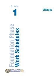 Foundation Phase W ork Schedules - Curriculum Development