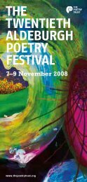 TPT Programme 2008 FAW - The Poetry Trust