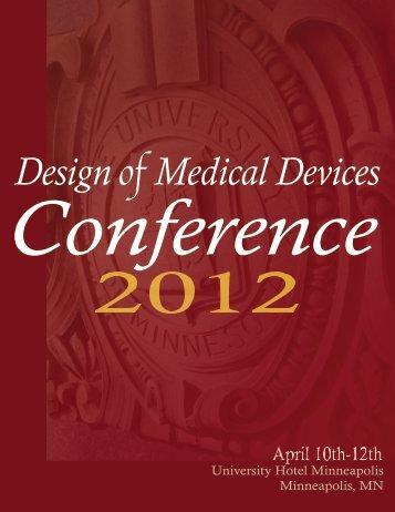 DMD 2012 Program - Design of Medical Devices Conference ...