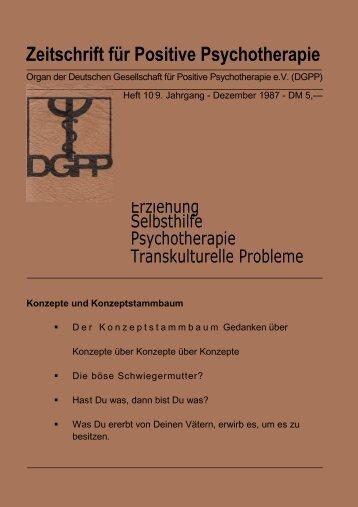 Heft 10 Komplett - Positive und Transkulturelle Psychotherapie